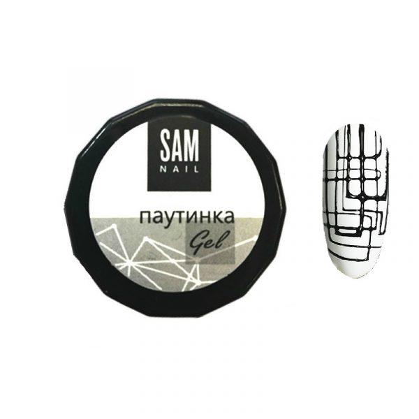 Гель-паутинка Sam Nail черного цвета
